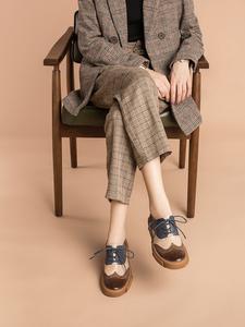玛菲玛图2020春款新款布洛克牛津单鞋女鞋平底百搭英伦风小皮鞋子