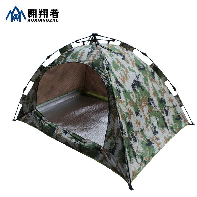 翱翔者数码迷彩棉帐篷 单人加大防风 超强保暖双层防雨全自动帐篷满190元可用10元优惠券