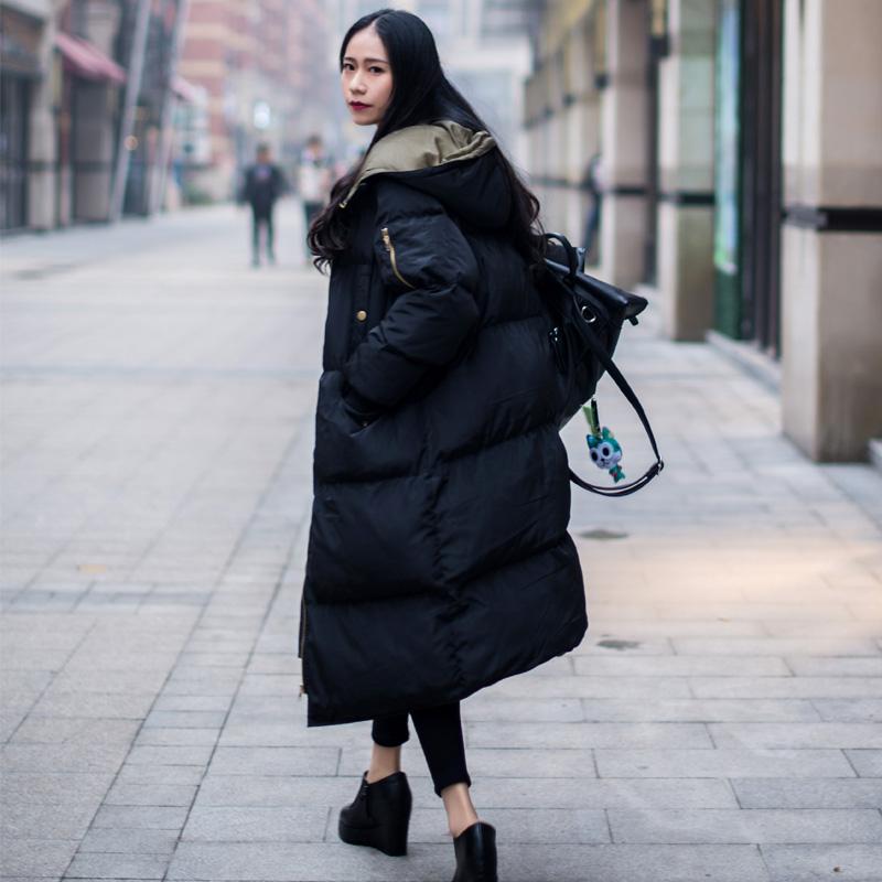 Матч обещание цао простой письмо милый с модель хлопок хлеб одежда бедро длина хлопок женская одежда корейский утолщенные внешний крышка зима