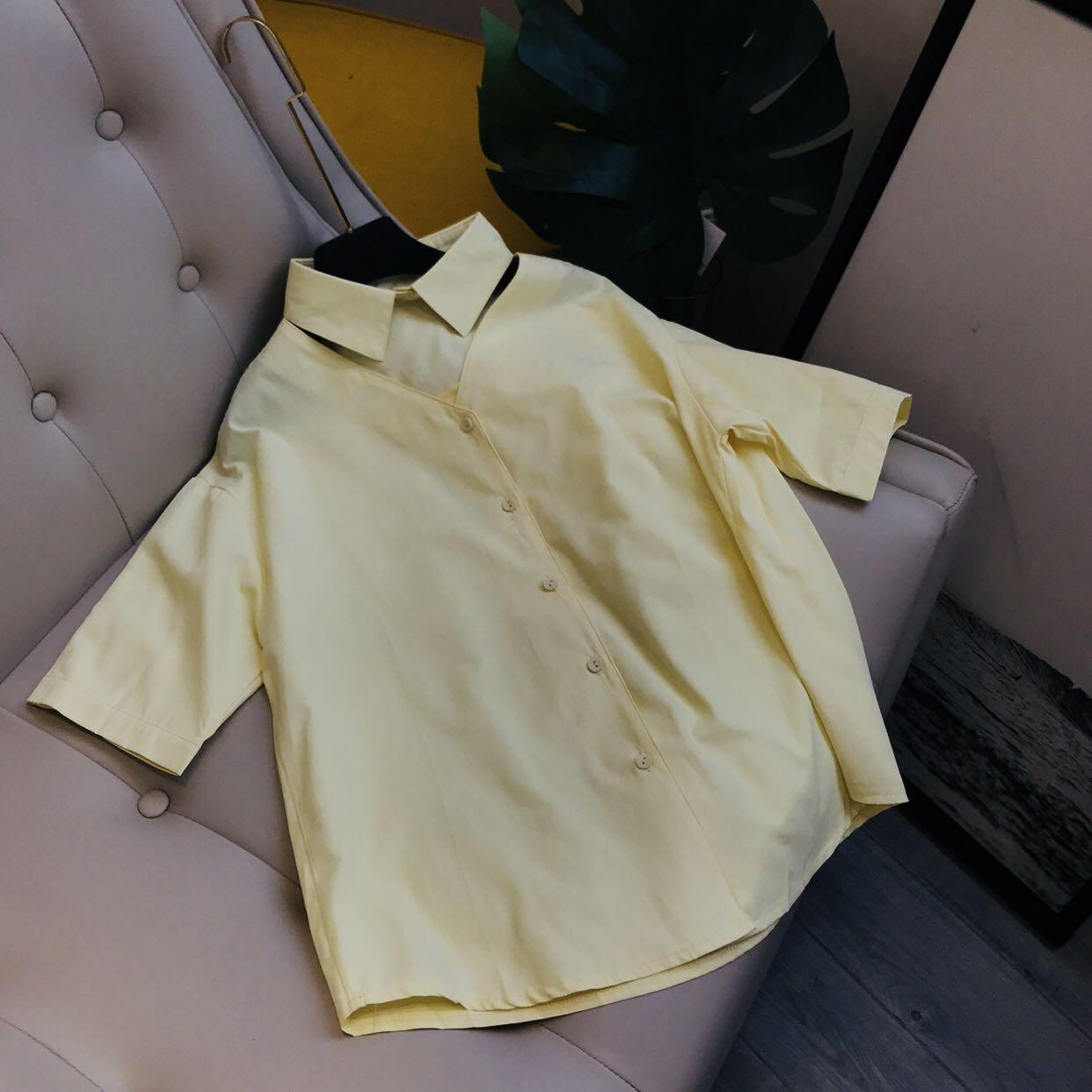 少女感。挖空衣领设计 小清新衬衫  8081/A5-3