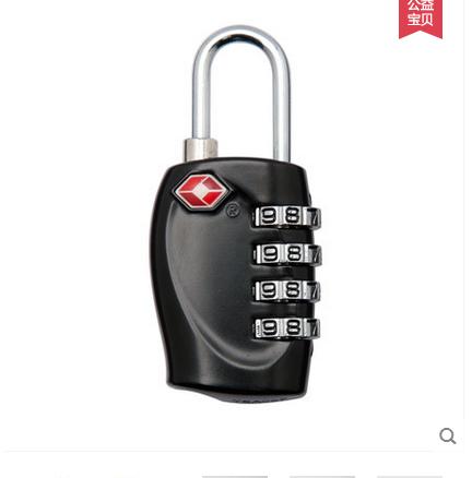 出国海关锁 tsa密码锁拉杆箱包旅行箱防盗锁托运通关锁行李箱挂锁