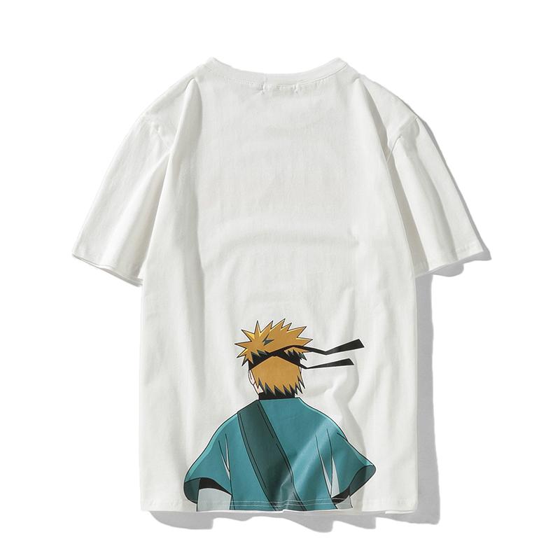 夏装日系动漫印花短袖t恤男大码男学生青少年t恤  T35P30