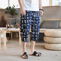 中国风夏季新款七分裤花裤子民族风裤子A453-DK098-P50