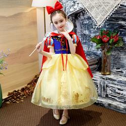 白雪公主裙女童裙子冰雪奇缘2连衣裙爱沙爱莎艾莎万圣节儿童服装
