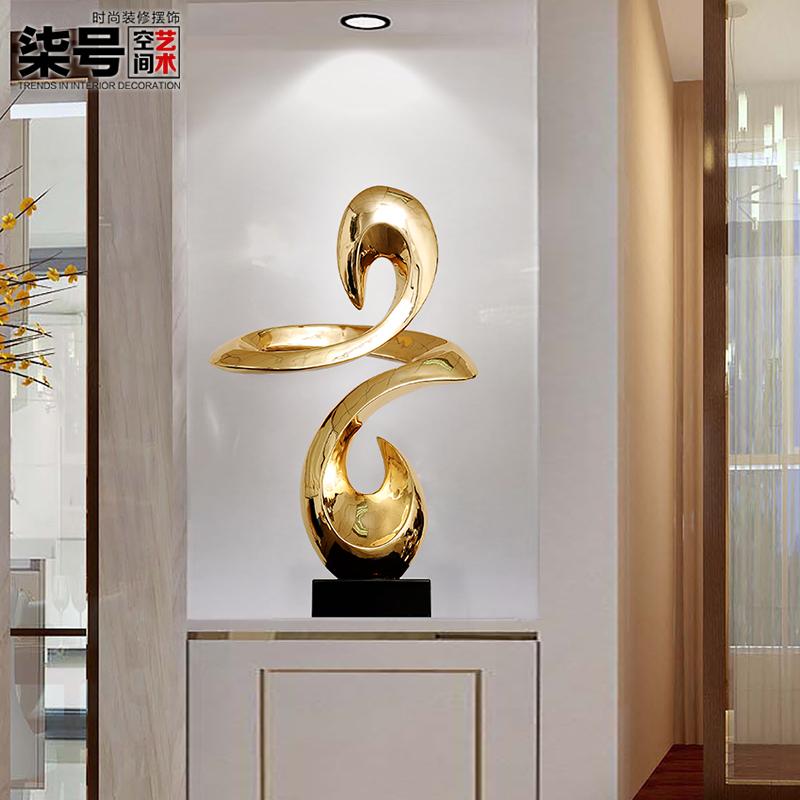 酒店大厅招财风水装饰品雕塑艺术品现代家庭客厅抽象家居饰品摆件