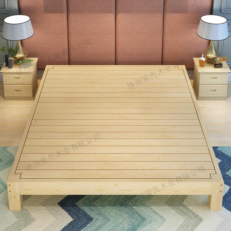 床头床体原木实木床榻榻米简约床架