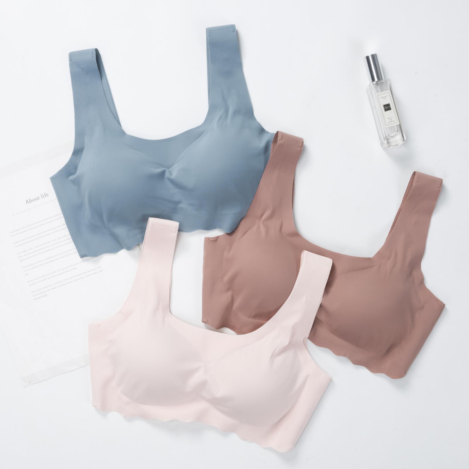 Original design no steel ring thin sports bra one piece girl beauty back no trace Yoga underwear breathable bra
