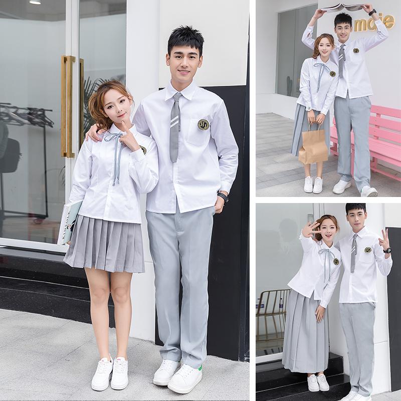 英伦初中高中学生班服一套学院风日系JK制服套装运动会合唱演出服(非品牌)