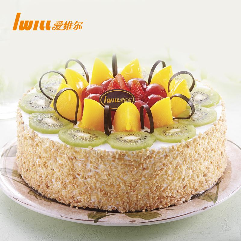 爱维尔-爱相随-水果鲜奶油生日蛋糕新鲜现做苏州无锡可配送至门店,可领取10元天猫优惠券