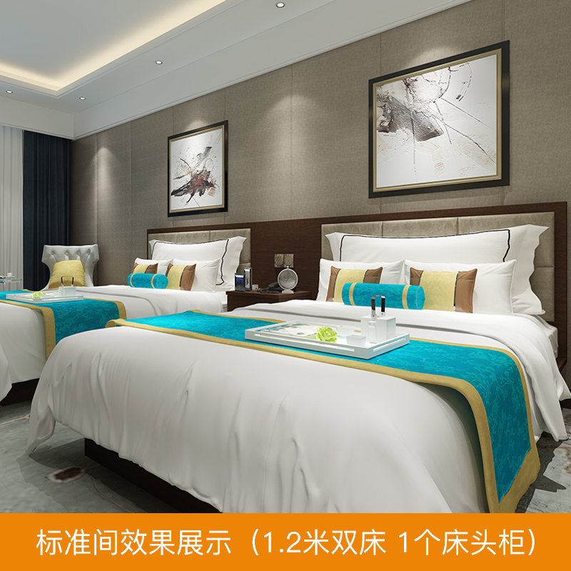 Jane Eyre space modern business hotel furniture bed full standard room single room hotel furniture customization factory direct sales