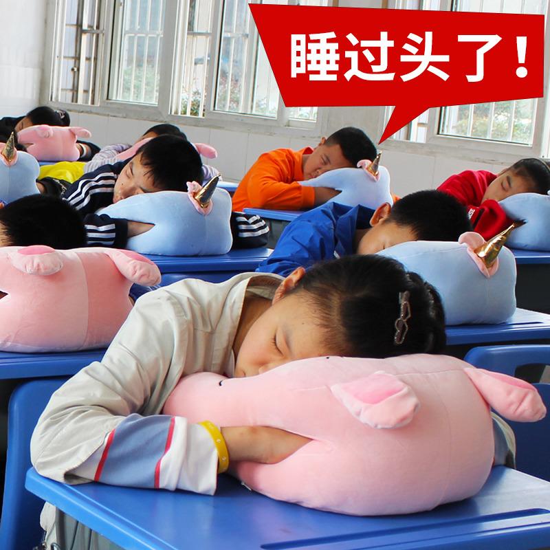 趴睡桌上睡觉儿童桌子学生午睡枕