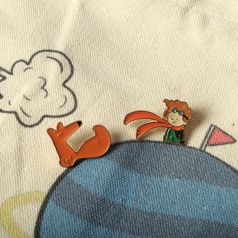 三星粲 The Little Prince小王子胸针 可爱的徽章配饰 衣服装饰品