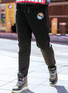 雷哈格尔加肥加大新款秋季潮牌大码弹力宽松休闲卫裤弹力宽松长裤