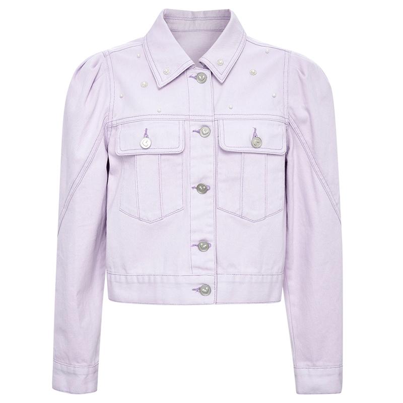 糖力2021春季新款紫色单排扣夹克质量好不好