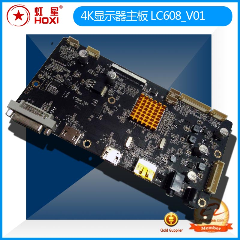 4K display board LC608_V01 with DP support HDMI2.0 60HZ 4K ad machine motherboard VBO
