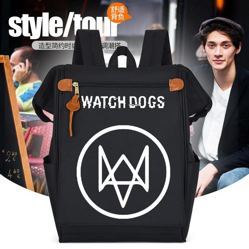 Game watchdog 2 animation peripheral backpack large capacity leisure junior high school students tide brand mens and womens backpacks