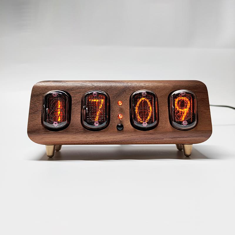 前苏联IN12辉光数码管时钟手机蓝牙控制辉光灯台钟真辉光时钟闹钟
