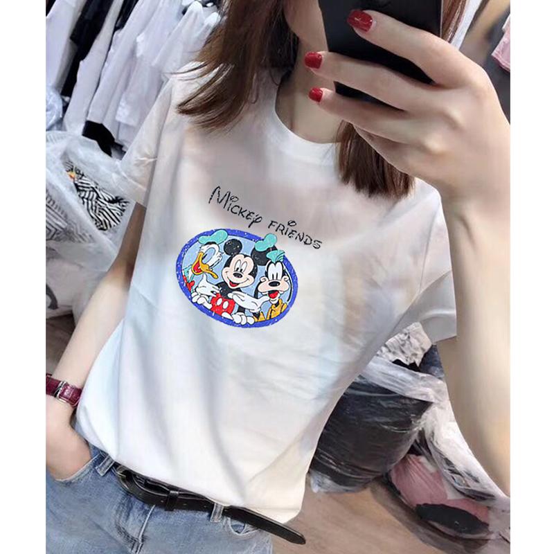 夏秋装2019新款韩版短袖女装女t恤(非品牌)
