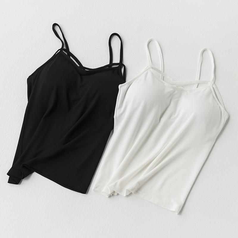 2018春夏季新品女装内搭打底背心吊带 莫代尔弹力纯色吊带打底衫