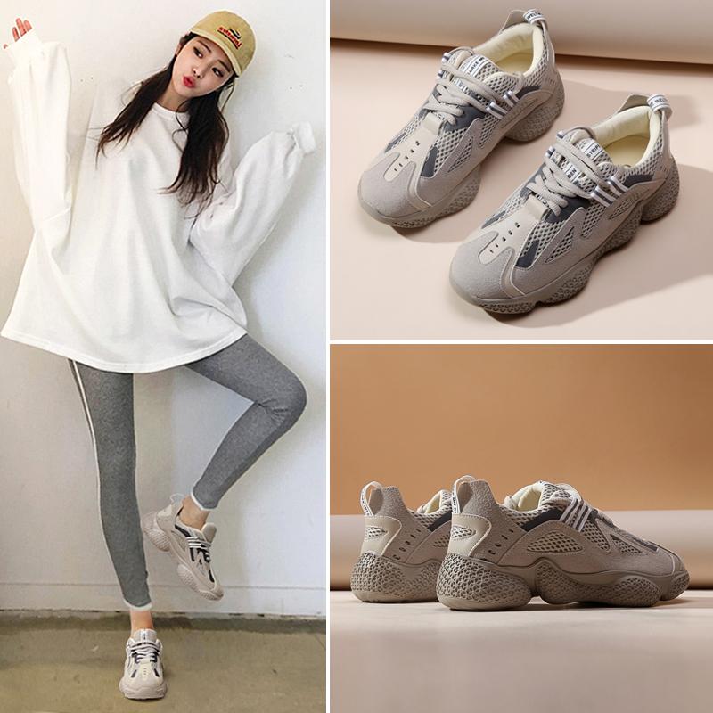 小熊老爹鞋女ins潮2020春款运动夏款鞋子女潮鞋夏季透气跑步鞋子
