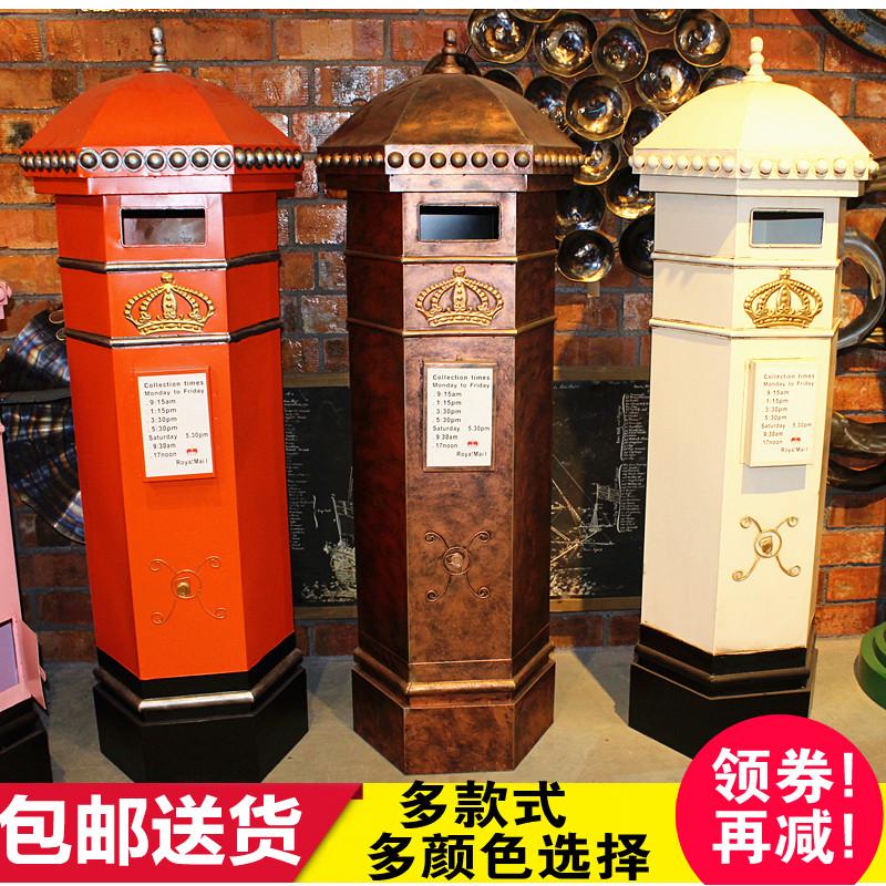 Большой британский лондонский почтовый ящик с кованым железом винтаж Декоративные орнаменты