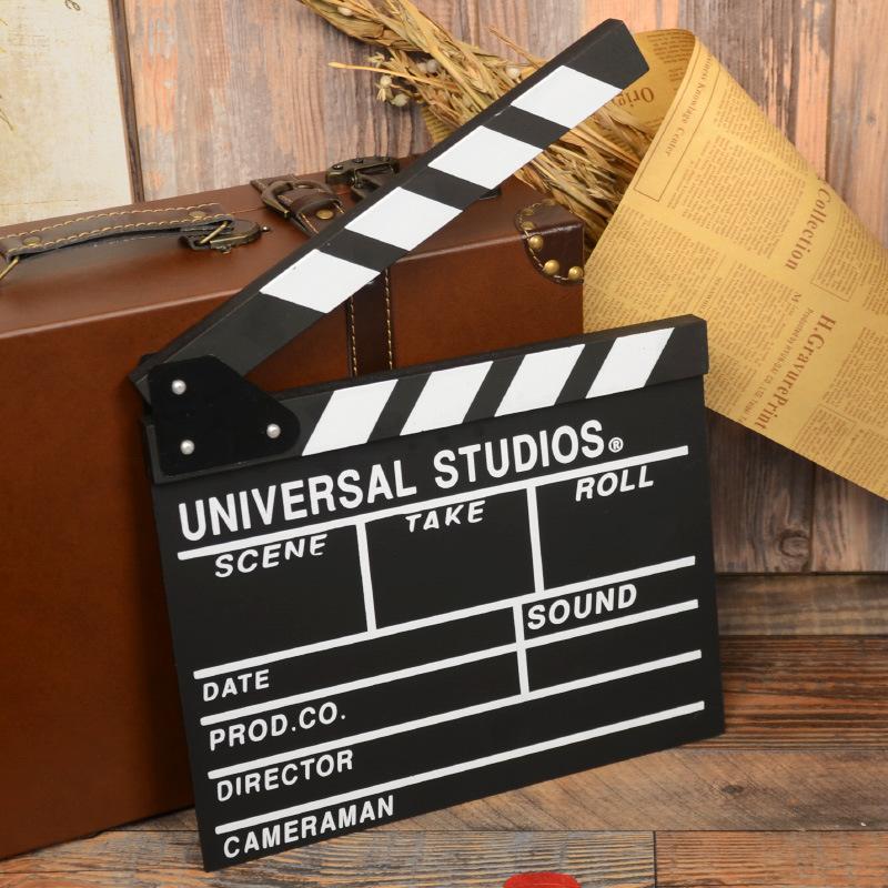 木质电影拍板场记板导演板打板摄影道具创意个性摆件zakka装饰