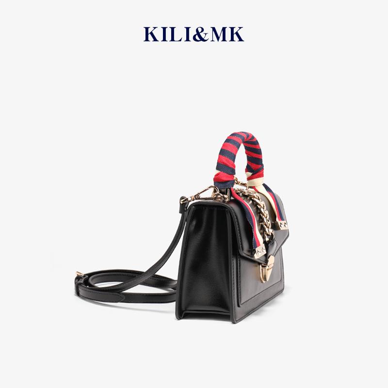 小ck限定大牌奢侈品白色真皮斜挎包