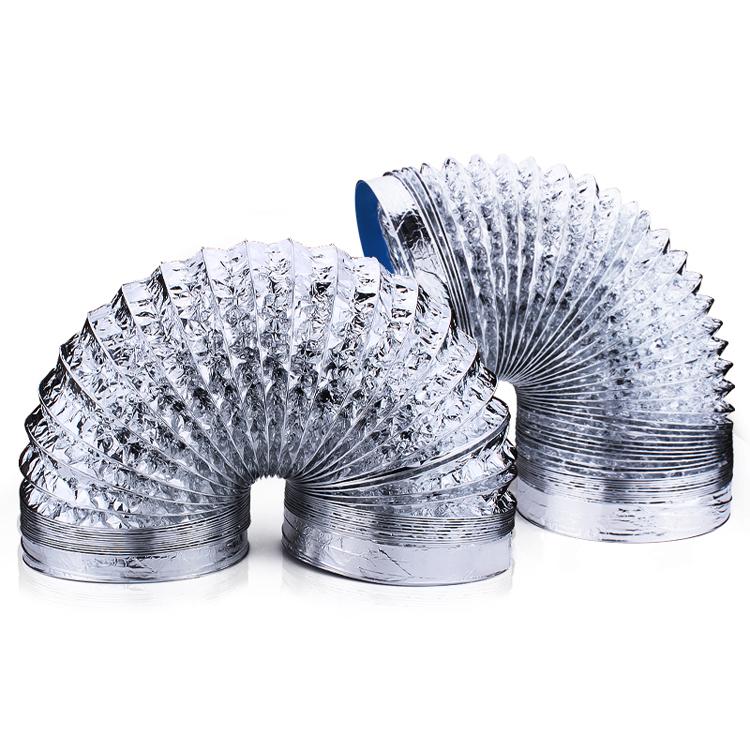 通用抽吸油烟机配件 铝箔伸缩排气管 厨房管道烟囱排烟管包邮