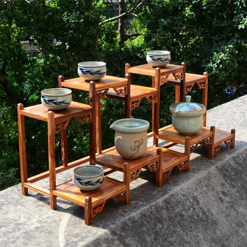 茶壶架子展示架红木小博古架古董古玩花瓶花梨木摆件紫砂茶具实木