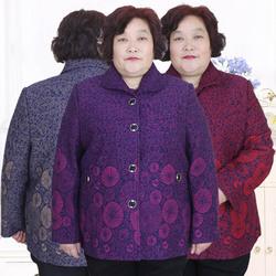 大码200斤胖太太衣服中老年女装奶奶特体加肥加大妈妈春秋装外套