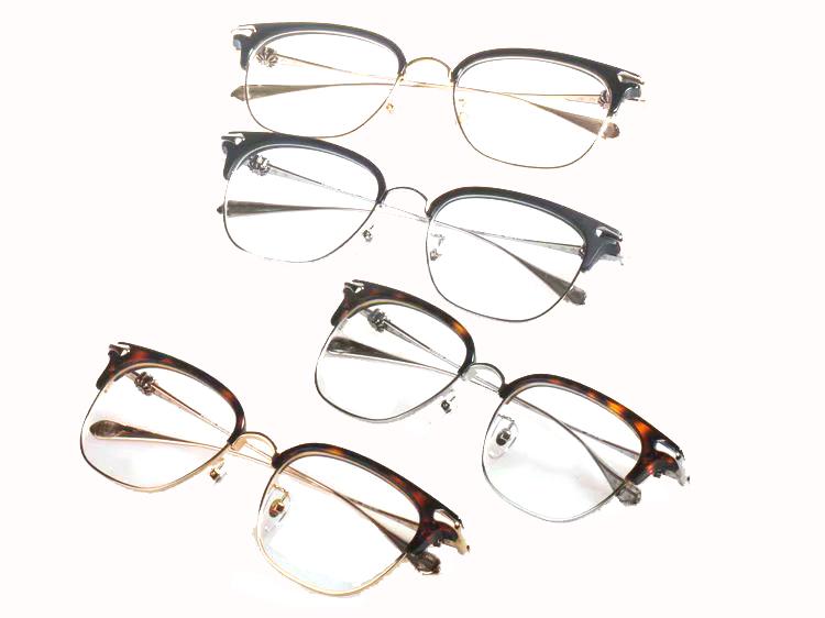 新款时尚潮流女近视眼镜架眉毛架复古爆款防蓝光电脑护目16008