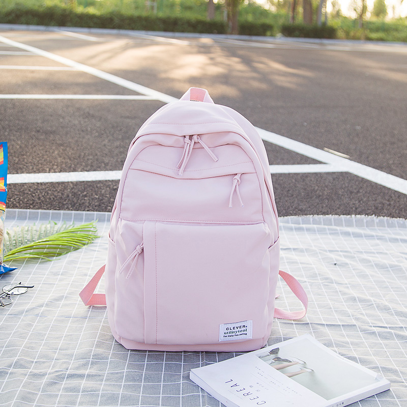 Schoolbag for middle school students female Korean Edition