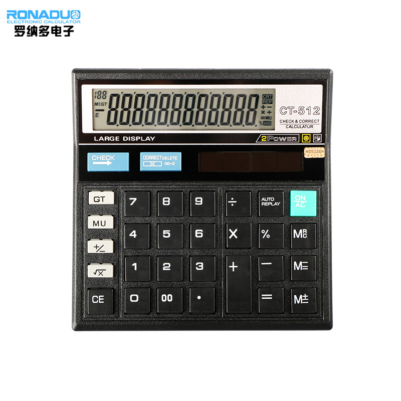 Business office calculator customized ct-512 computer desktop calculator for financial accounting