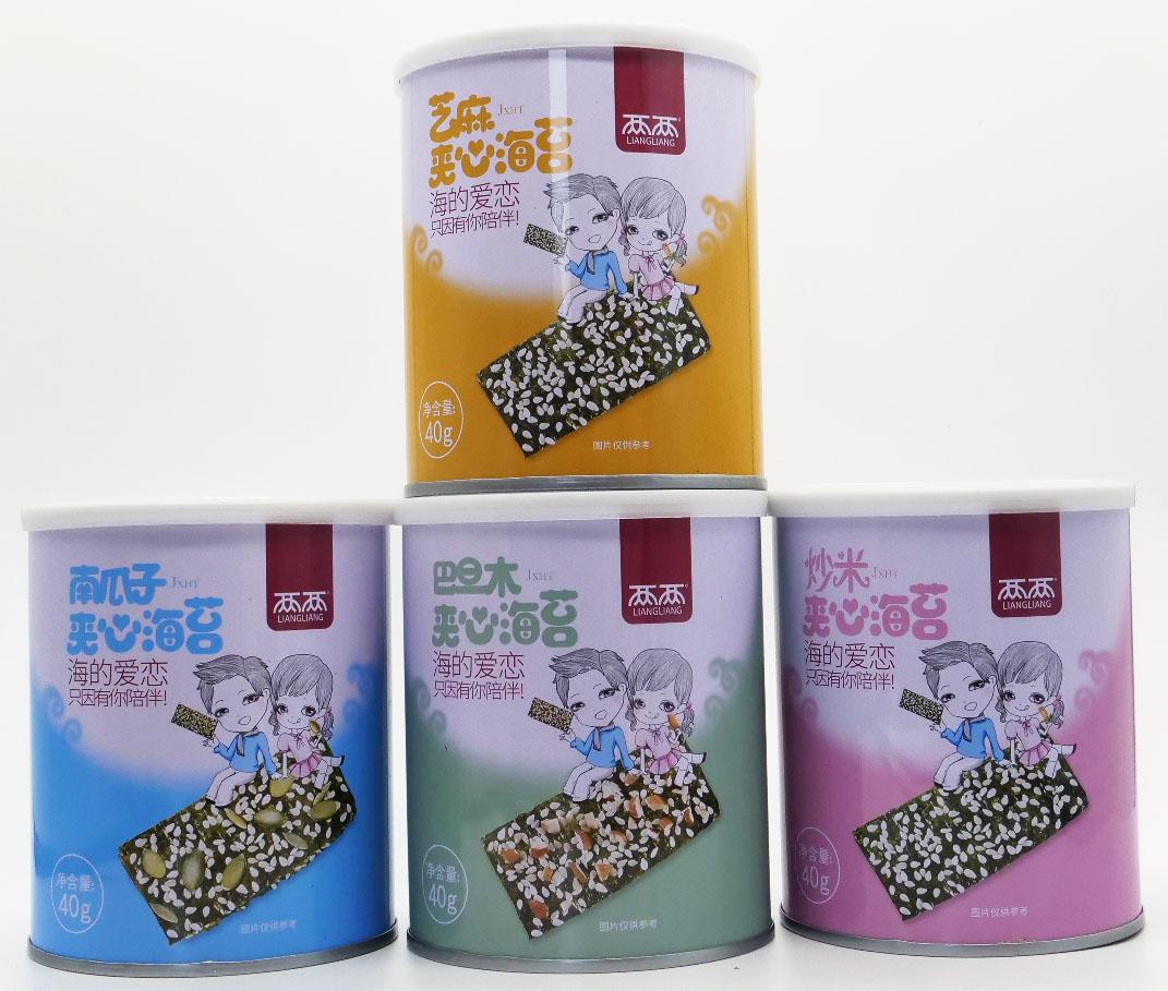 连云港两两条斑紫菜罐装宝宝海苔