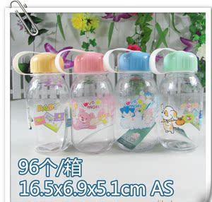 热销儿童广告杯 可印字印制logo 卡通水杯便携杯AS材质手提杯