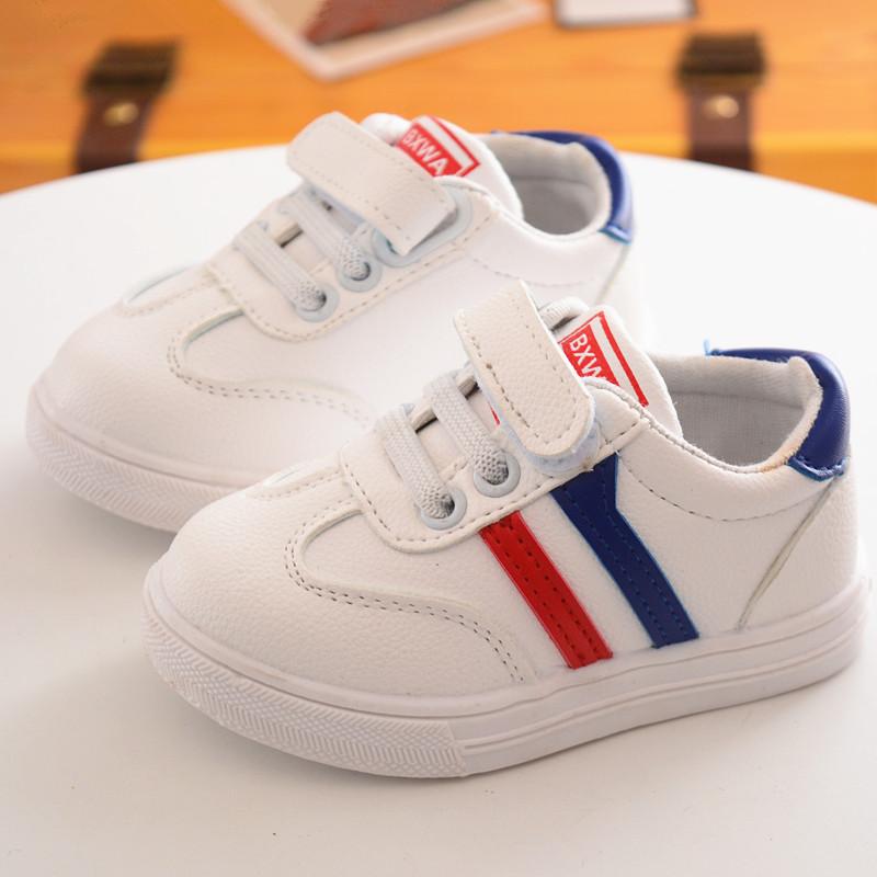 满90.00元可用71.2元优惠券小白鞋单鞋透气小童中宝宝学步儿童鞋白色板鞋运动鞋男童女童网鞋