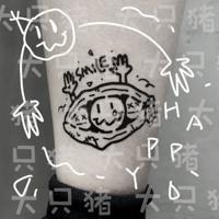 查看【大只猪在家】情绪豌豆荚 原创卡通防水可爱花臂少女彩色纹身贴价格