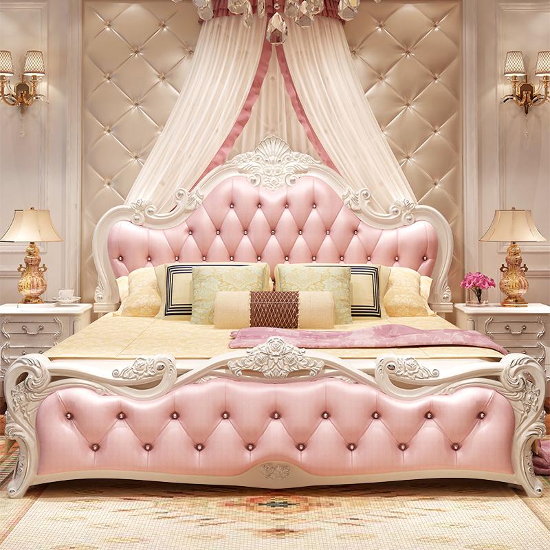 欧式床主卧双人床法式公主床实木床现代简约1.8米1.5奢华婚床家具