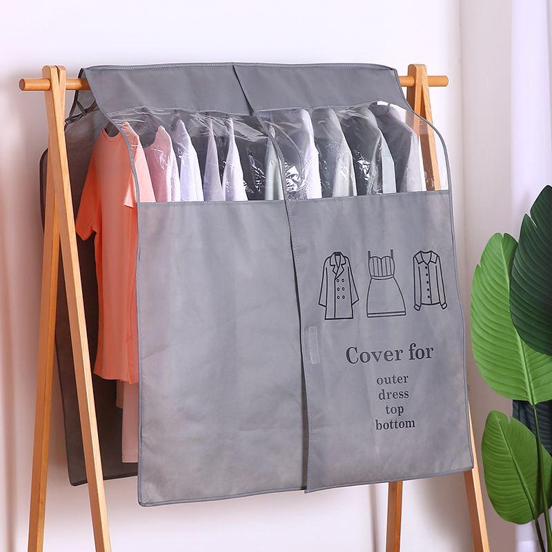 Household clothes dust cover moisture proof integrated hanging wardrobe clothing suit coat coat down coat hanging bag mould proof
