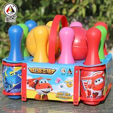 奥杰超级飞侠儿童卡通保龄球玩具套装室内男女孩亲子户外健身玩具