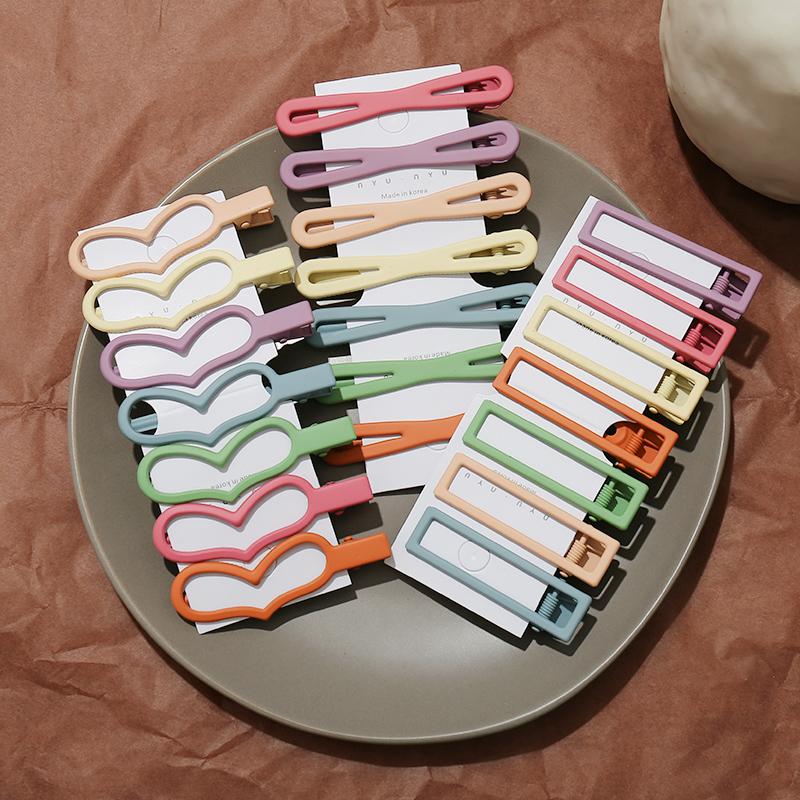 12月02日最新优惠不伤发磨砂女韩国糖果色几何刘海夹