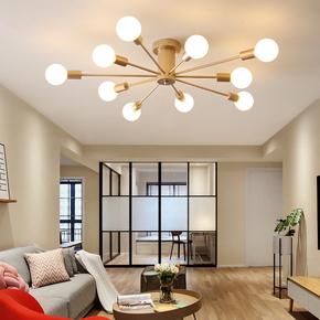 北欧小客厅现代简约大气灯饰餐厅美式极简吊灯卧室创意个性吸顶灯