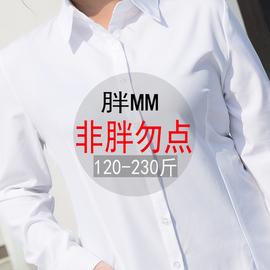 特大码白衬衫女短袖胖mm加肥加大200斤工作服衬衣女职业正装寸衣