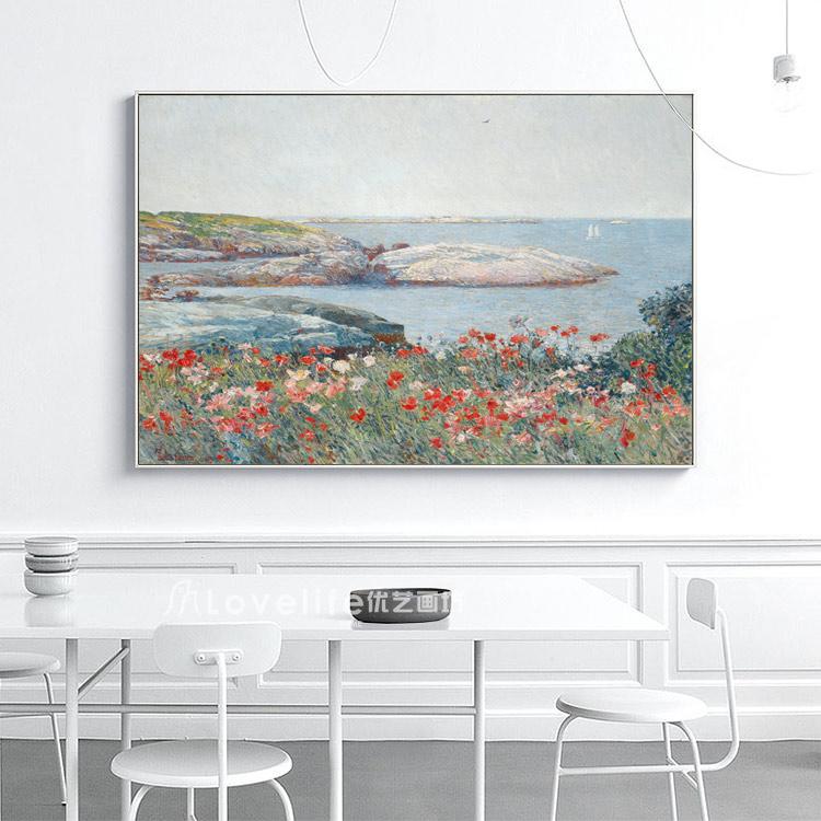 風景畫玄關走廊裝飾畫油畫餐廳無框畫壁畫花卉風景抽象裝飾掛畫