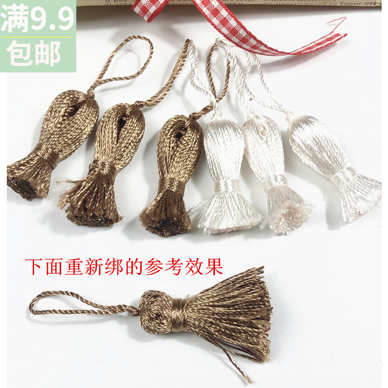 100 small tassels hand DIY hair accessories materials need to be rewound