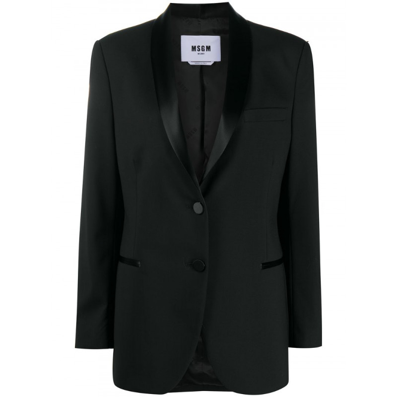 Tax 50% off to buy msgm womens Satin Lapel suit jacket jacket jacket jacket