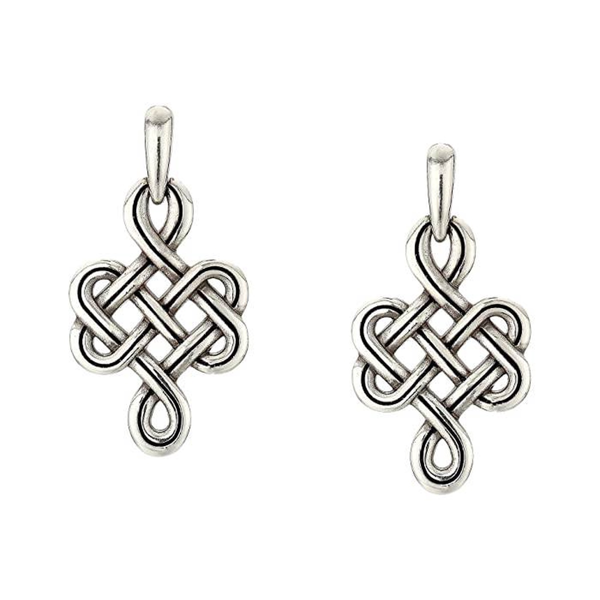 Purchase Brighton womens interlok post ring knotted Earrings 2021 new luxury goods