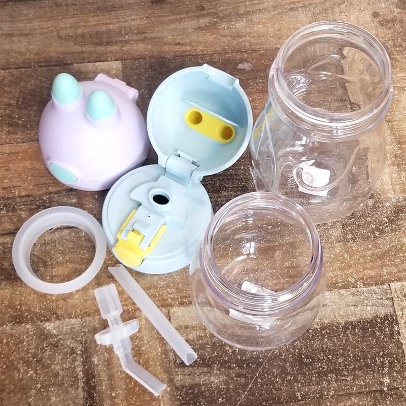 膳魔师儿童吸管杯配件bbsc-240原装bbsh-420兔子水杯子手柄杯盖子