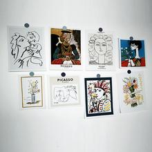 毕加索艺术卡片 韩国ins风卡片简约线条海报网格墙卡片装饰照片墙
