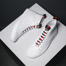 Fall Men's Shoes, High Uppers, Korean Edition Trend, White Shoes, Baishoe, Men's Gaobang Leisure Shoes, Small White Tide Shoes